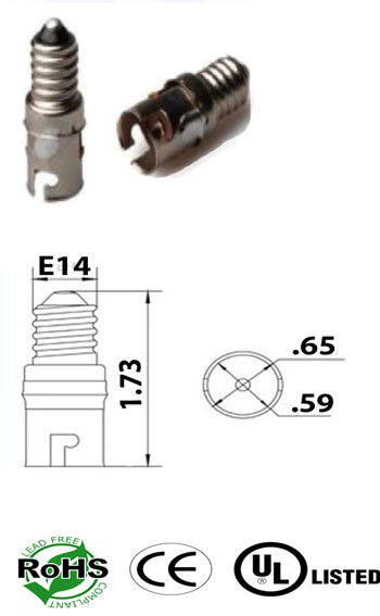 E14 male to BA15S female Converter