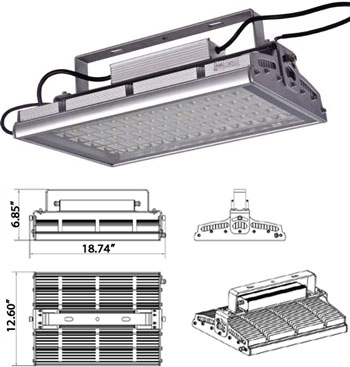 90 Watt High Power Outdoor LED Light 90-277VAC