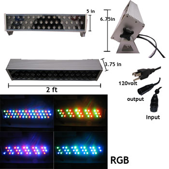 45 Watt LED Wall Washer DMX Controlled Inter Linkable NCNR