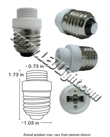 E27 male Screw Base to G9 female Base Converter Adapter