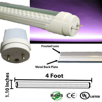 image of a t8 t12 pink color led tube light