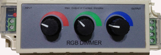 RGB Dimmer 12VDC/108W 3 Channel 3A Common Anode