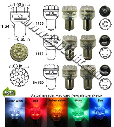 S25 24 LED Light 12 VDC