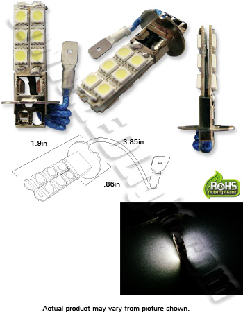 H1 H3 H7 12 5050 (3 Chip) LED Fog Light