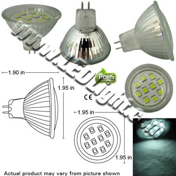 LED MR16 GX5.3 GU5.3 10 5050 SMT LEDs 12V