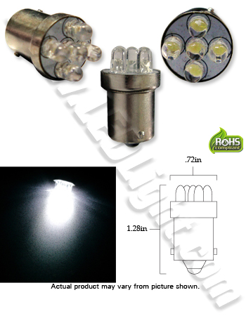 Image for S25 5 LED Light Bulb 12 VDC