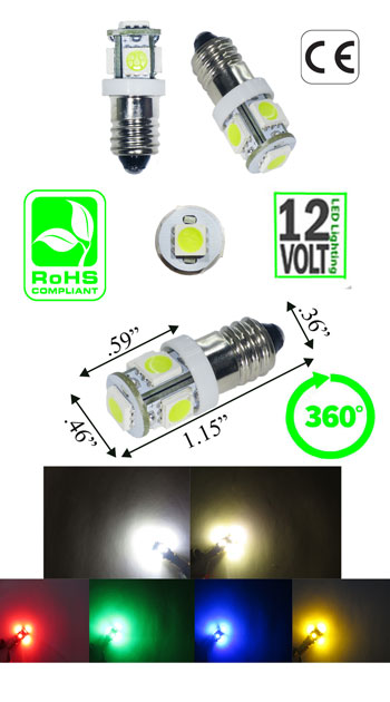 Image of a E10 led bulb