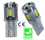 #194 Miniature Bulb T10 Wedge Base 3 Watt LED 12V AC or DC