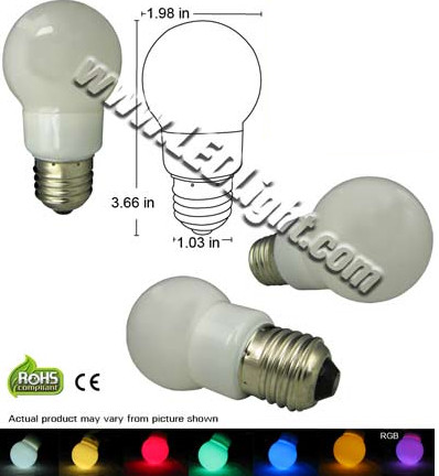 1.3 Watt Standard Appliance LED Light Bulb 120 VAC E26