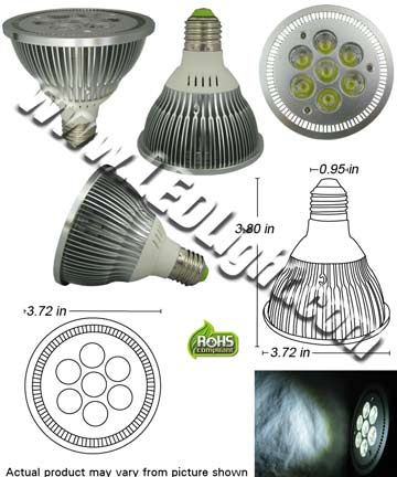 Par30 Dimmable LED Seven 1.2 Watt LED Light Bulb