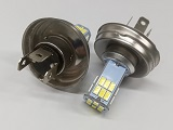 p45t 6 Volt LED Headlight 6 Volt 30 SMD Dual Filament No polarity