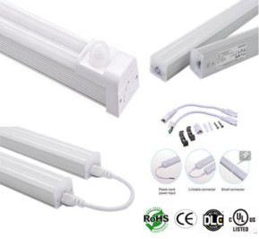 Double PIR 30W T5 Integrated LED Tube Light 4 Foot 120-277VAC