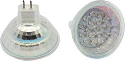 MR16 GX5.3 GU5.3 18 LED Bulb 12V AC-DC Lens