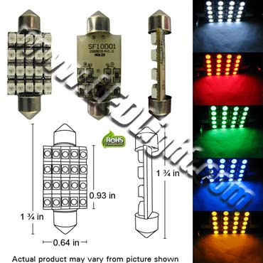 Image for Festoon Ultra Bright 20 SMT LED Light 1 3/4 Inches or 42 mm