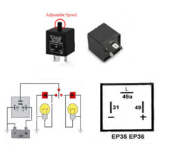 EP36 Flasher LED Compatible 12 Volt DC 150 Watt 3 Terminal