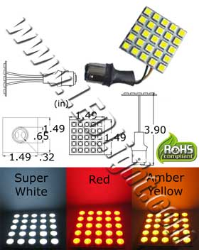 25 Ultra Bright S25 SMD LED Light 12 VDC
