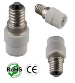 Image for E14 Male to G9 Female Ceramic Socket Converter