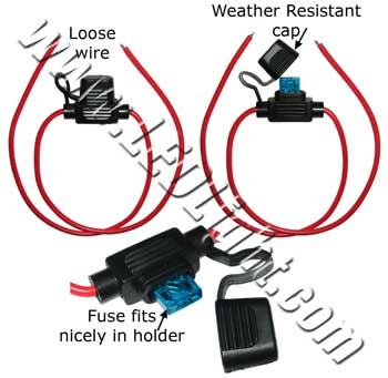 Mini Blade Weather Resistant Fuse Holder with Wires