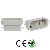 GX16D female Socket Ceramic with Wires