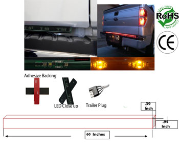 LED Tail Gate Light Bar 60 Inch 58 Watt 12V