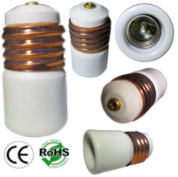 E26 male to E17 female Ceramic Converter