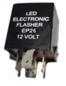Flasher LED 12V DC 150W 4 Terminal Compatible With EP26