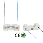 G53 female Ceramic Socket with Pigtail Wires White Color