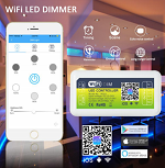 LED Dimmer WIFI Controller DC12-DC24V 144W @ 12V Common Anode