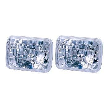 Headlight Semi Sealed Housing 7 Inch Square With Park Bulb Pair