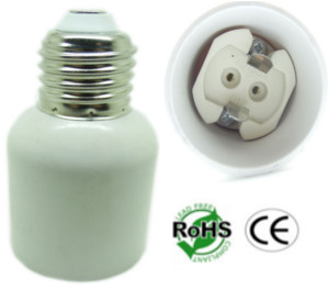 E27 Male to G12 Female Ceramic Socket Converter