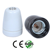 E26 Female Ceramic Socket Hanging White Color