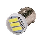 51 Miniature Bulb BA9S Base 6 Volt 3 SMD 7020 LED T3 1/4