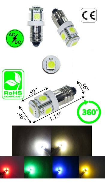 E10 LED Miniature Screw 12 To 16 Volt AC product 69798