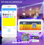 RGB LED WiFi Controller 12-24V 144W 3 Channel Common Anode