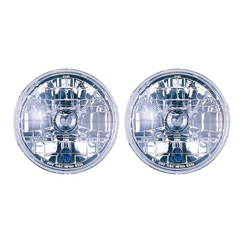 Headlight Semi Sealed Housing 7 Inch Round With Park Bulb Pair
