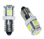 #1487 Miniature Bulb E10 Base 5 5050 12V DC Dim-able T3 1/4