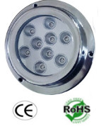 Underwater Transom 45 Watt (9x5W) Surface Mount RGB LED Light