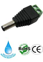 Connector male 5.5mm x 2.1mm Water Resistant