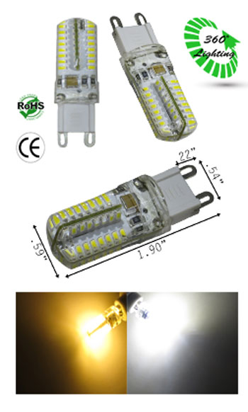 G9 male 3 Watt 120 VAC LED Lamp