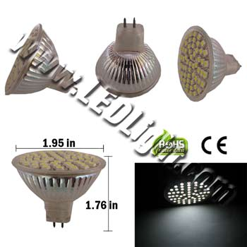 MR16 60 SMD 3528 LED Light Low Voltage 12 Volt