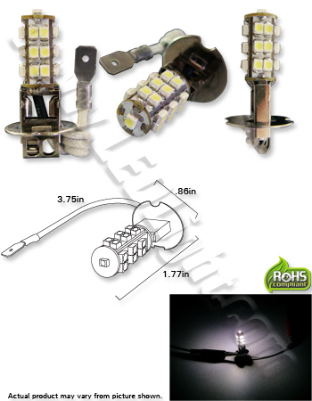 1.2 watt h1 led fog light