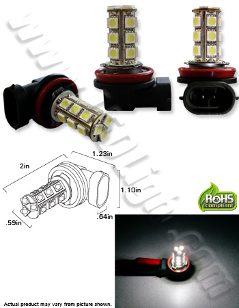 H11 18 SMD 5050 Day Running and Fog L.E.D. Light