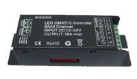 LED DMX512 Controller 6Ax3 Channel 216 Watt 12-24VDC Common Anode