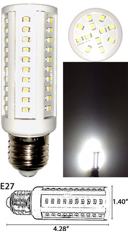72 3528 SMD LED Light Bulb 360 degree E27