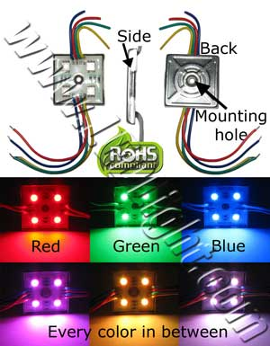 5050 LED Module Water Proof RGB Common Anode 12 VDC