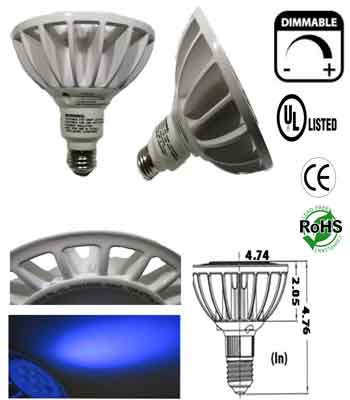 Par38 15 Watt UV E27 Dim-able Short Neck AC 120  30 Deg
