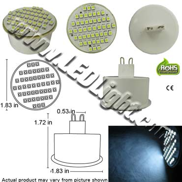 G9 Base 48 SMD Forward Firing LED Light Bulb