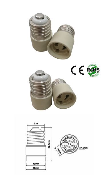 E39 male To PGZ18 female Adapter Converter Lamp Holder