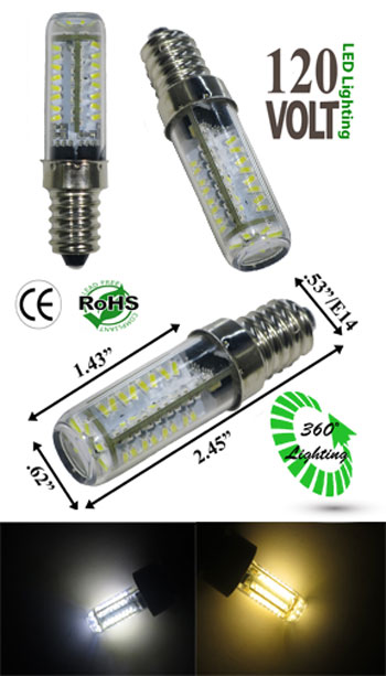 E14 LED 3 Watt 120 VAC