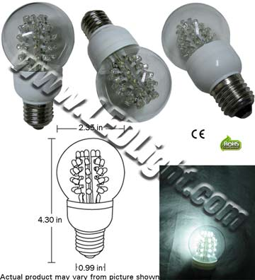 A19 Ultra Bright 40 1.5 Watt LED Light Bulb 120 VAC E26